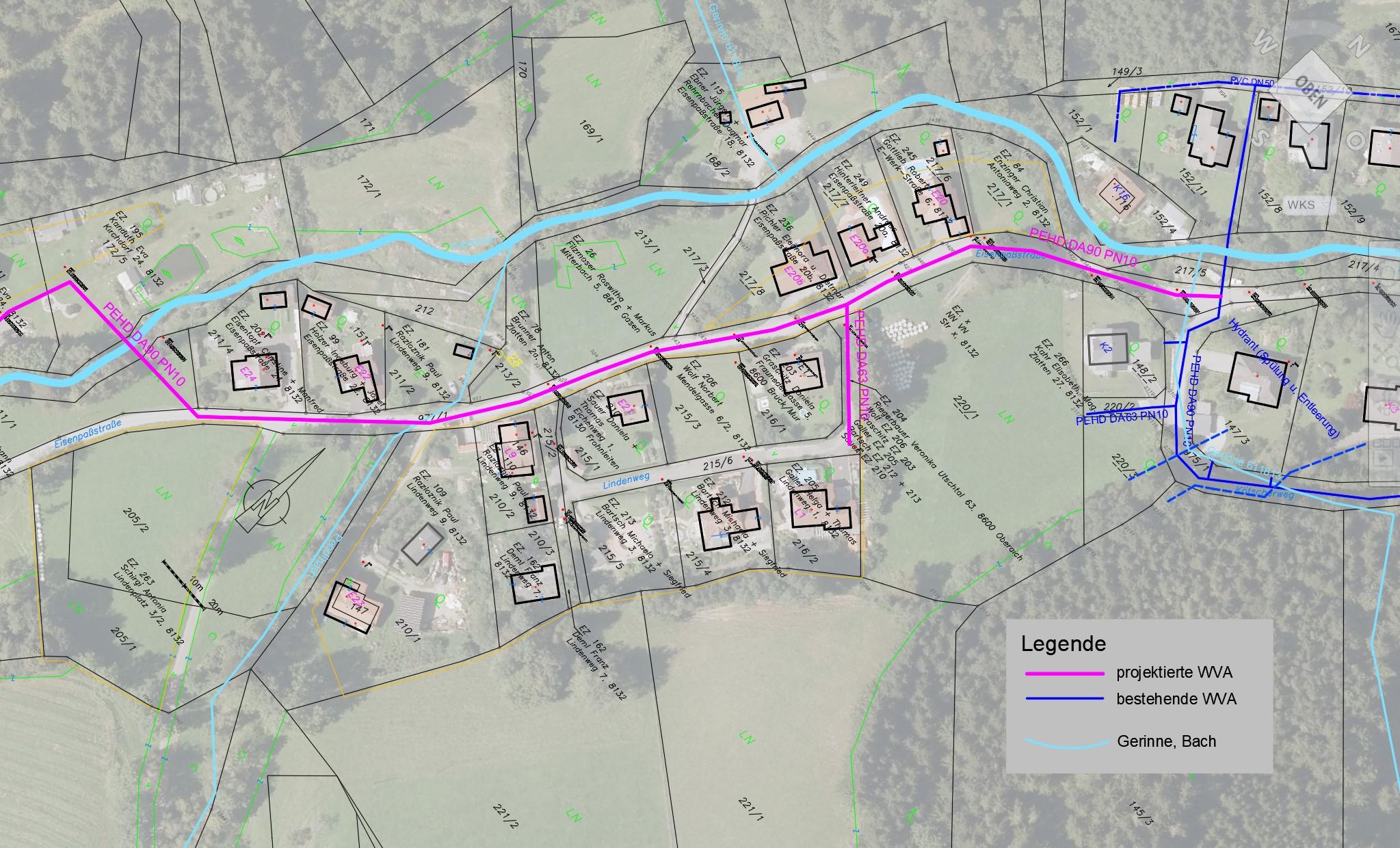 Vorentwurf Erweiterung Wasserversorgung