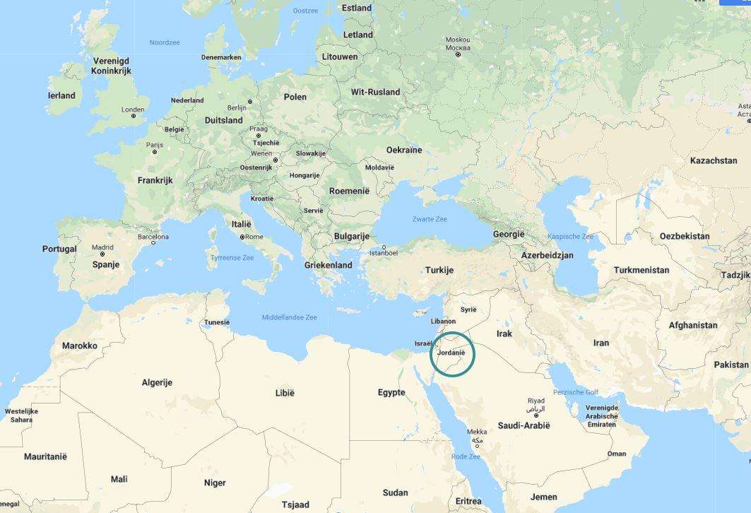 waar ligt jordanië