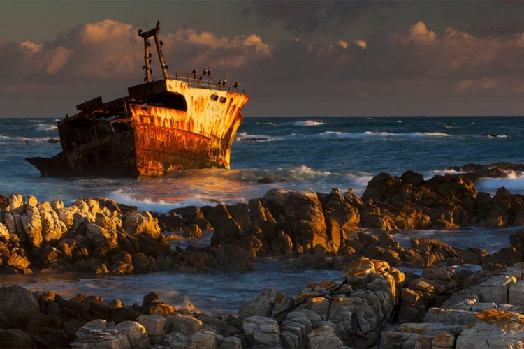 Kaap Agulhas in Zuid-Afrika © Mint Images