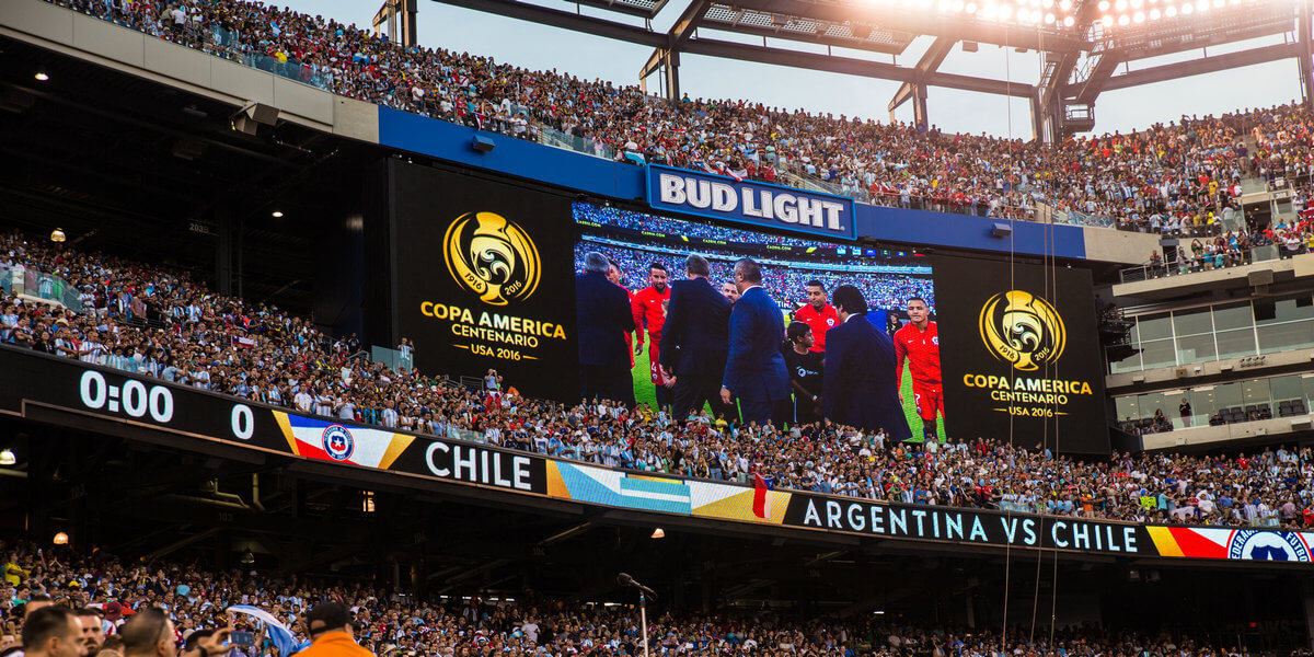 Outdoor LED display for sport