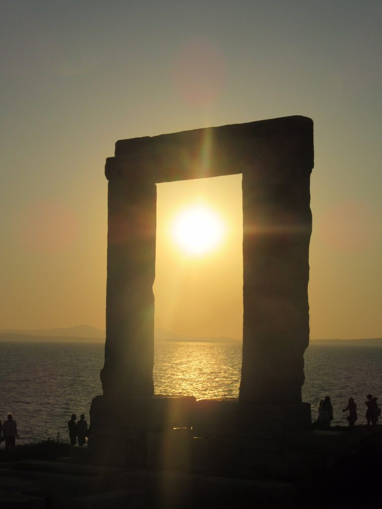 Apollon Tempel sunset Naxos Griekenland