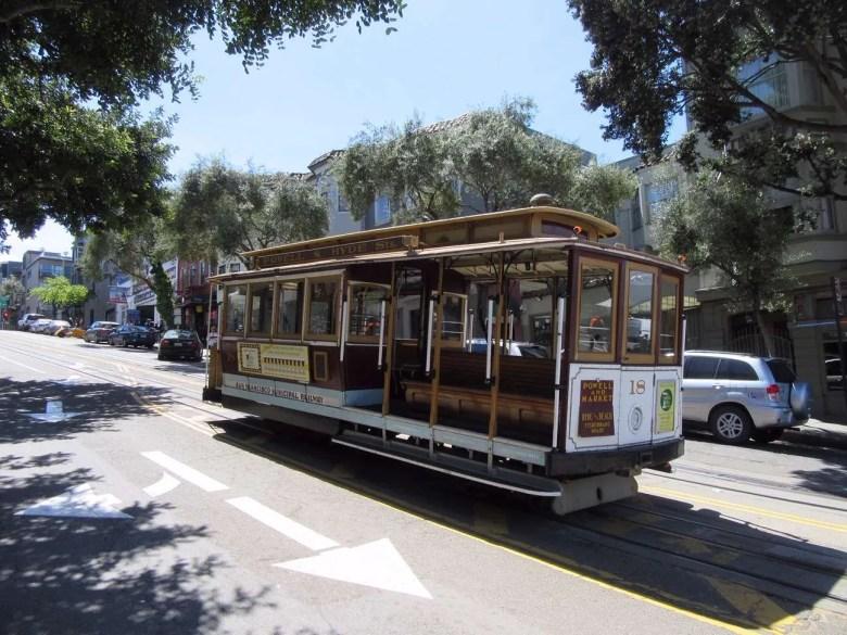 San Francisco Cable car street tram