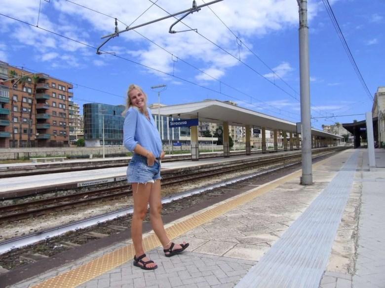 Station treinen reisroute Italië
