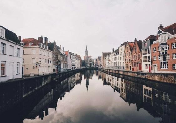 stadsuitzicht Brugge België