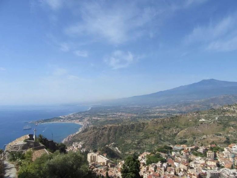 Uitzicht over Sicilië vanaf Taormina