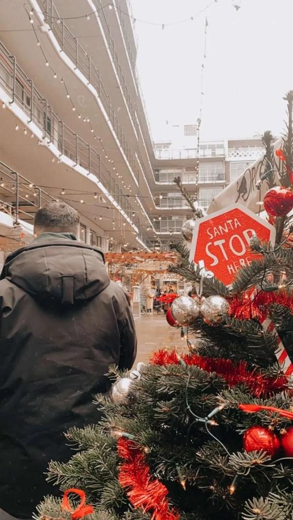 Industriegebouw Rotterdam kerst glühwein