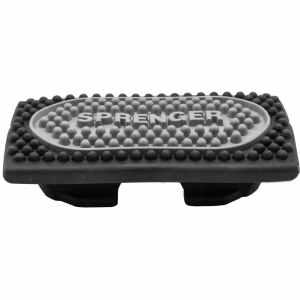 Sprenger Steigbügel-Einlagen Gummi für FLEXCITE, schwarz/silber