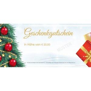 Geschenkgutschein Weihnachten 2
