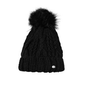 Pikeur Mütze mit Bommel schwarz