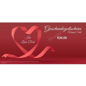 Geschenkgutschein Liebe 2