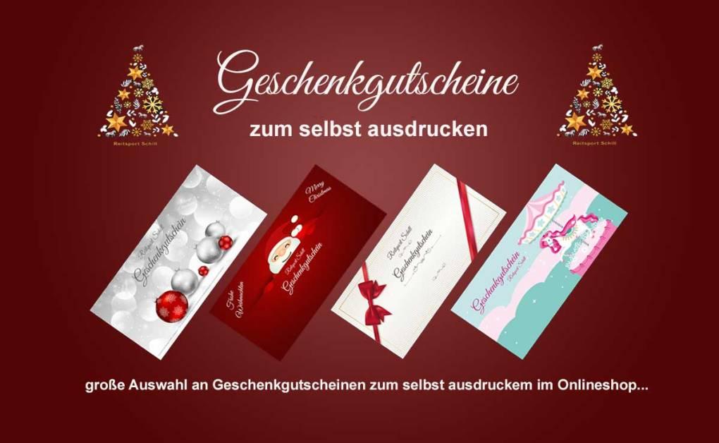 Geschenkgutscheine zu Weihnachten zum selbst ausdrucken