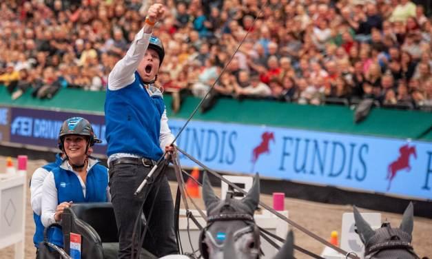 Bram Chardon siegt im FEI Driving World Cup von Leipzig
