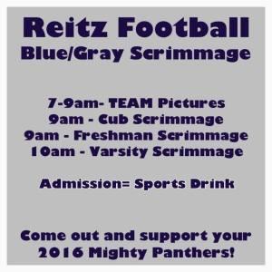 2016 blue gray scrimmage info