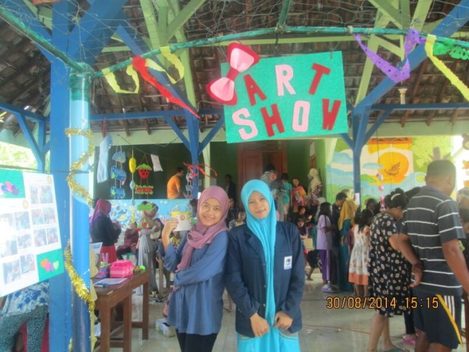 art show kerajinan kain flanel di pulau panggang