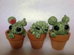 kerajinan clay kaktus