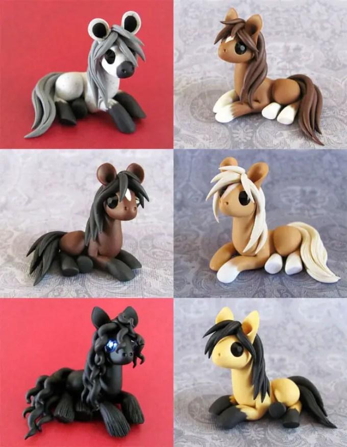 kerajinan clay kuda poni