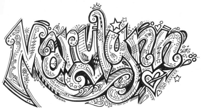gambar doodle nama