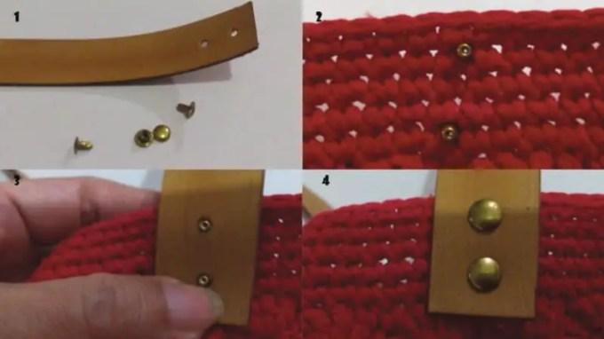 cara memasang tali tas rajut