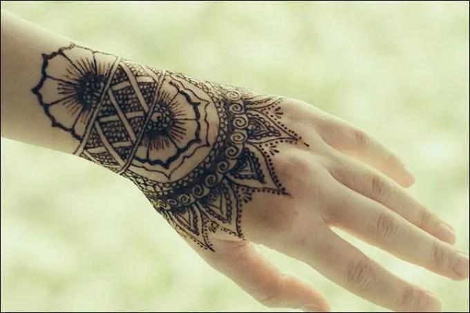 contoh gambar henna