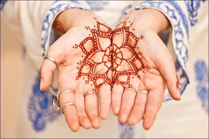gambar henna pengantin