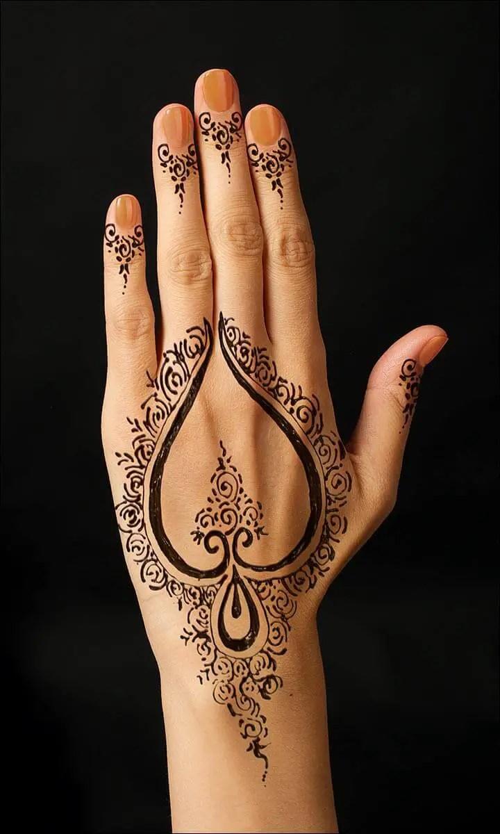 Mewarnai Sketsa Gambar Henna Tangan Terbaru Kataucap
