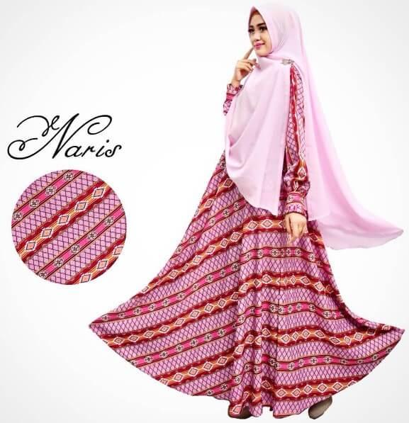model gamis syar'i batik