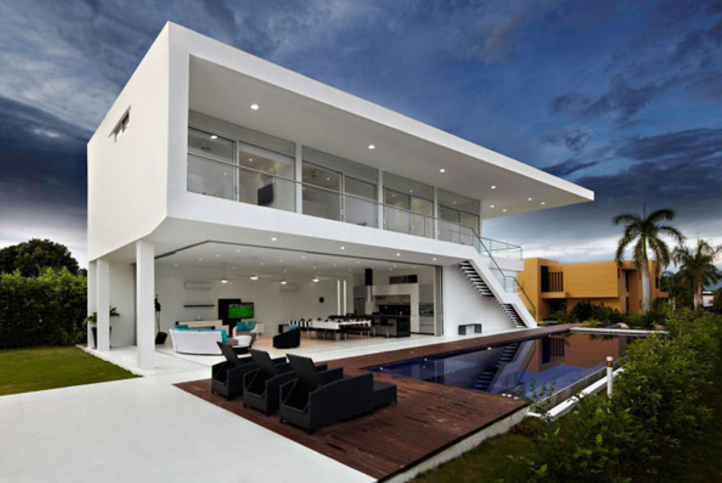 desain rumah minimalis di lahan luas ... & 100 Model Gambar Desain Rumah Minimalis Modern dan Sederhana