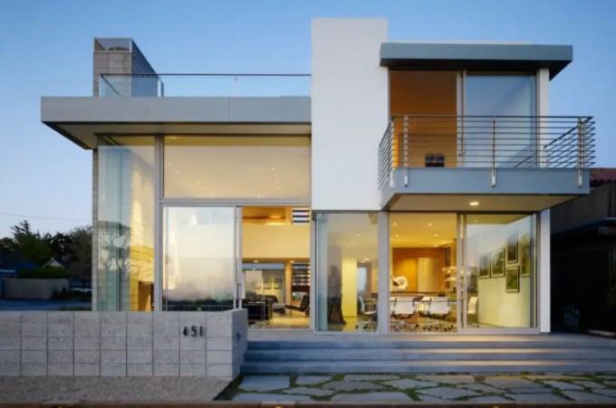 desain rumah minimalis pintu kaca