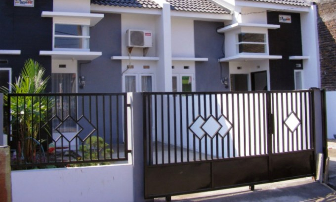 pagar rumah minimalis dari besi