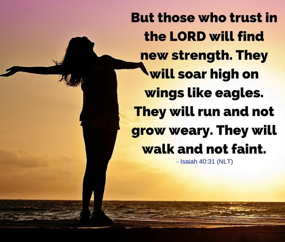 Renew your strength – Rejoice in Him