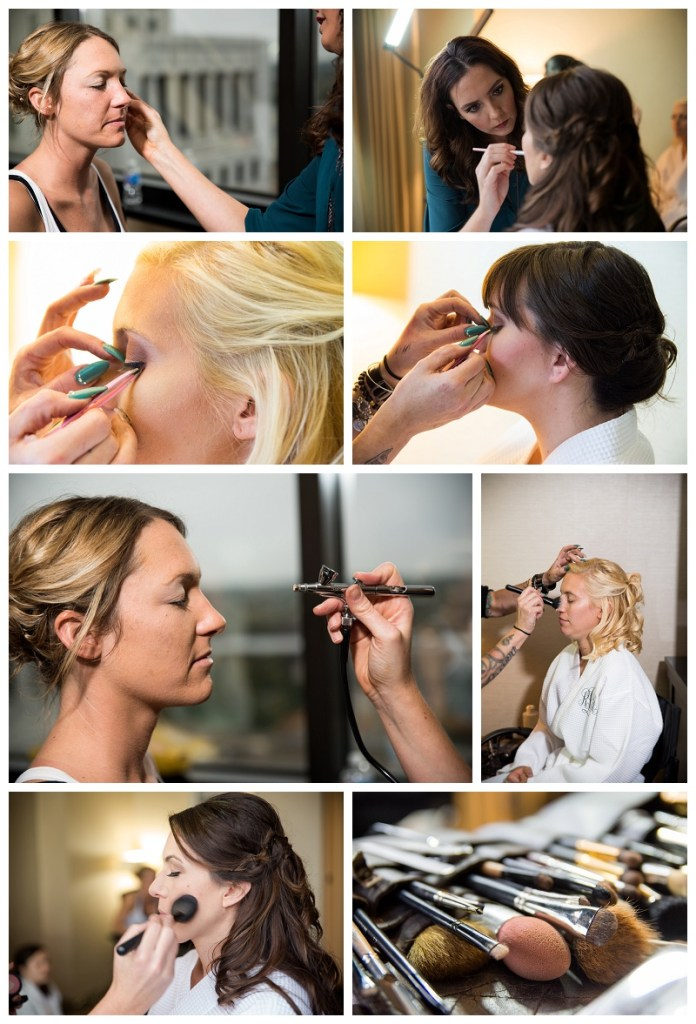 Airbrush makeup wedding day bride