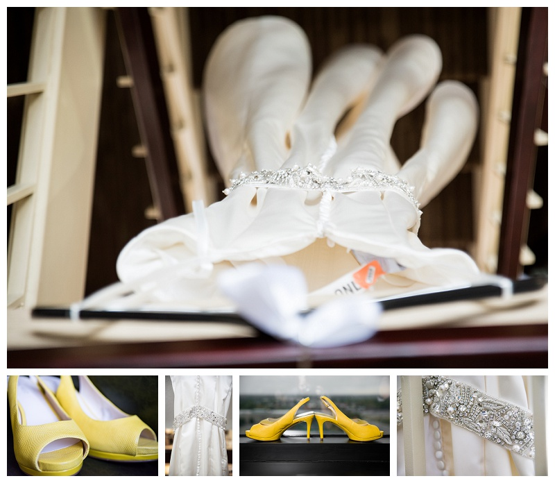 Wedding Dress and Yellow Shoes
