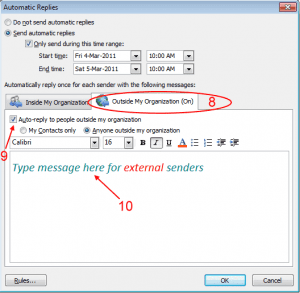 How To Setup Out of Office Auto-Replies in Outlook (Exchange