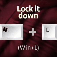 Windows Security Tip: Lock Your PC