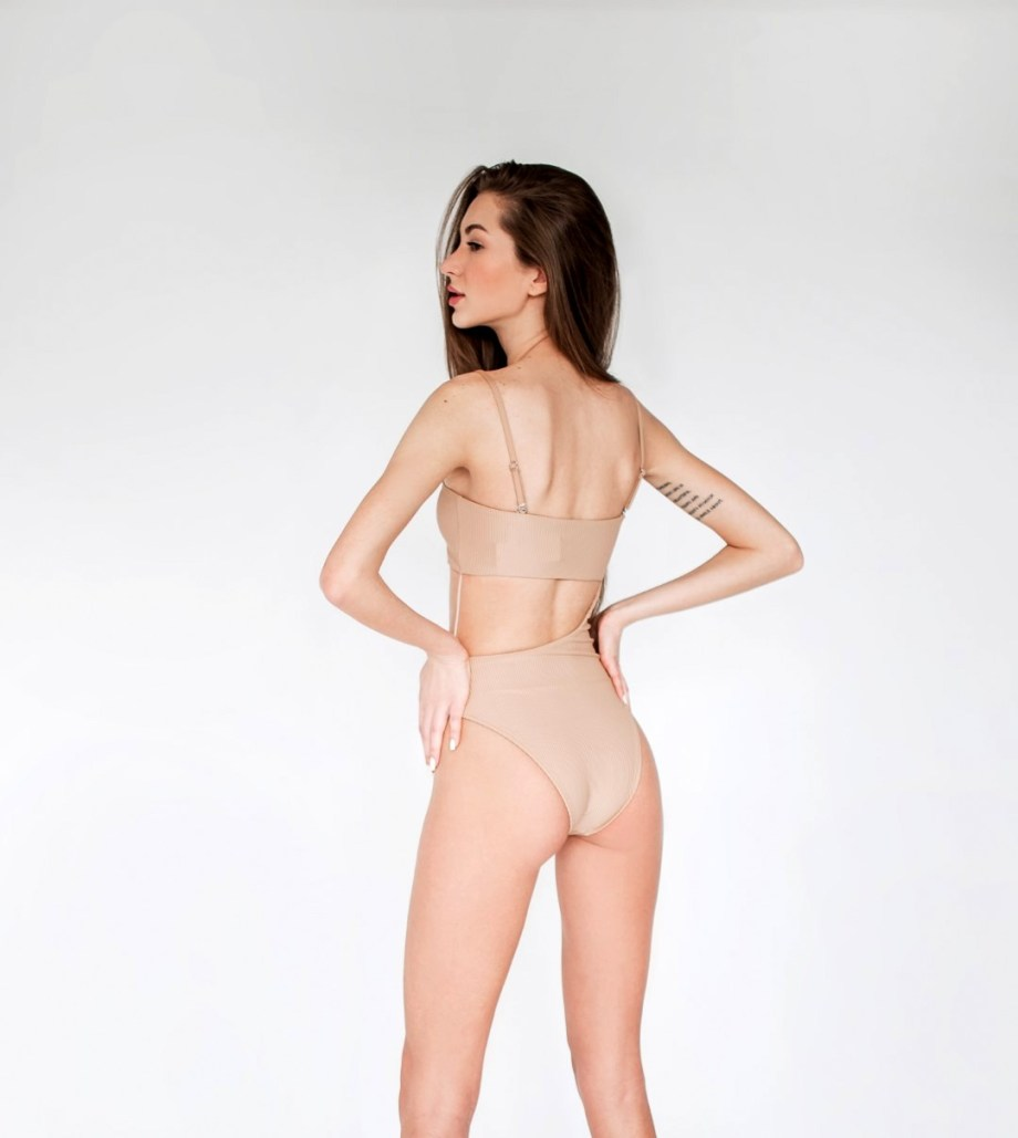 КУПАЛЬНИК CARTER RIBBED HIGH CUT ONE PIECE SWIMSUIT