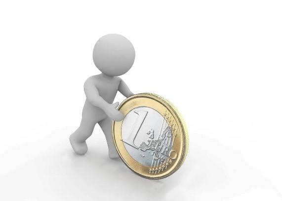 Rollende euro's!