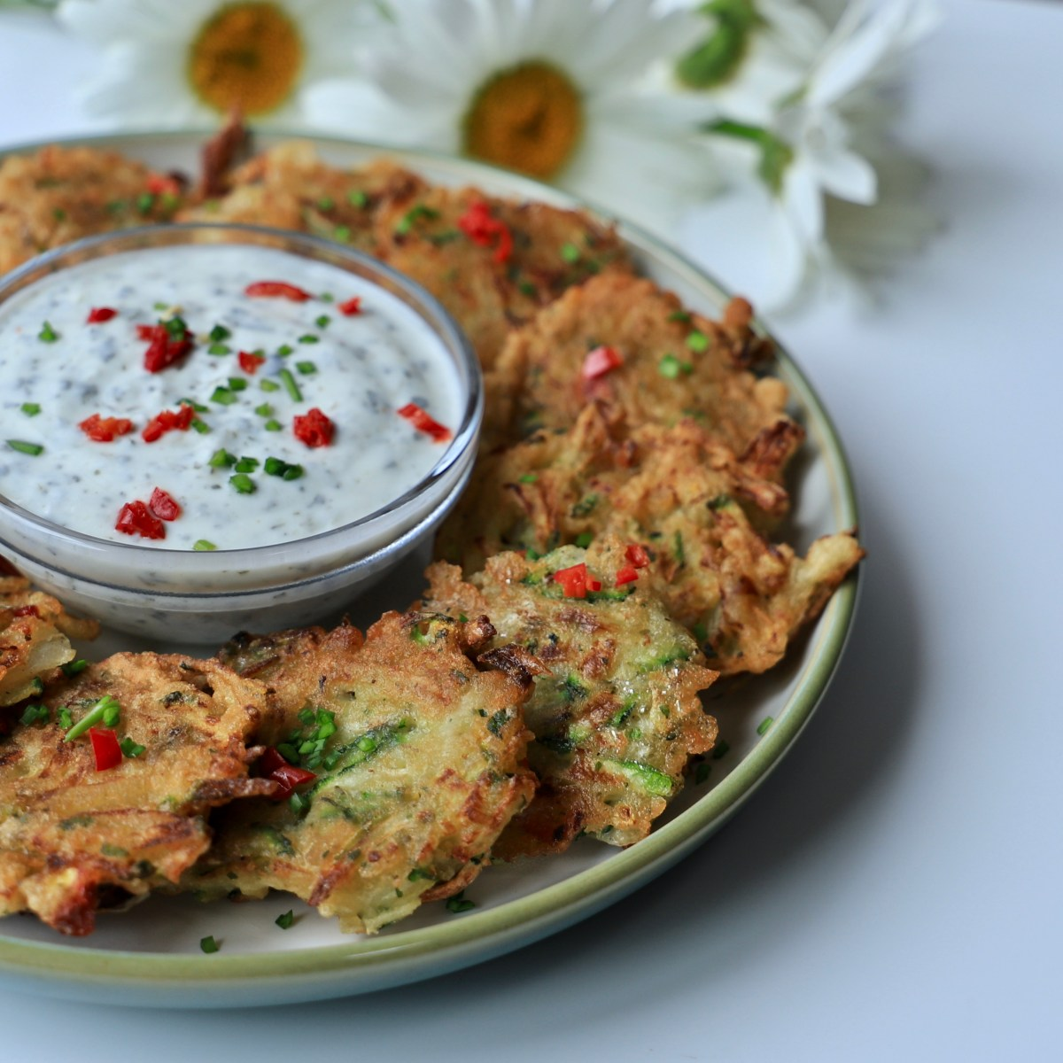 Courgette & Kohlrabi Fritters