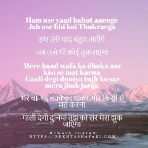 Bewafa Shayari in Hindi for love 4