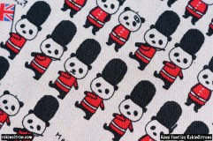 Tissu Panda british détail