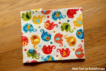 tissu miller elephants jaunes