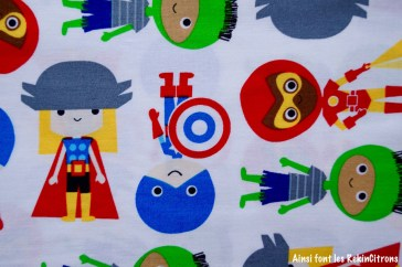 tissu superheros boys kaufman detail