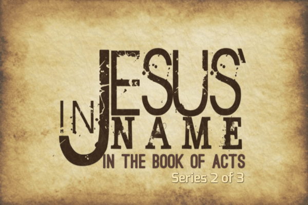the name of Jesus - book of acts