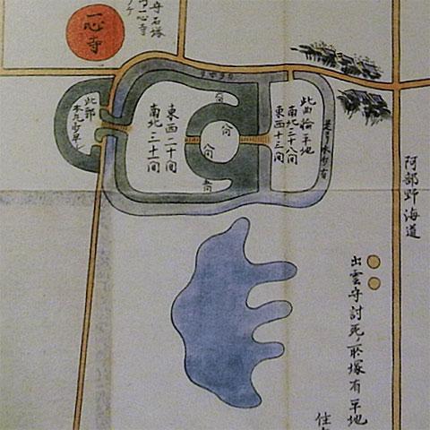 夏の陣茶臼山絵図
