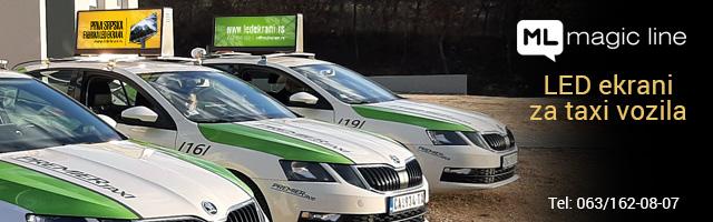 Led ekrani za taxi vozila