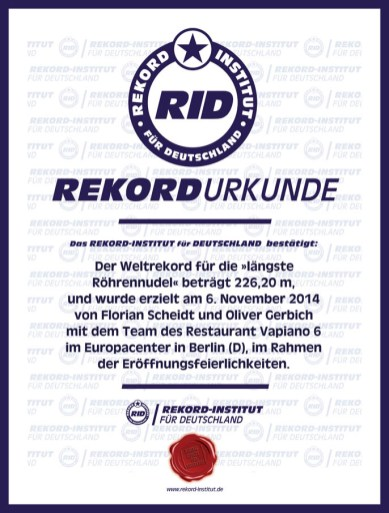 RID-Urkunde-Vapiano-2er