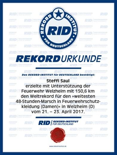 RID-Urkunde-Feuerwehr-Marsch-Damen