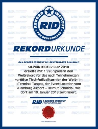 RID-Urkunde-Tischfussballturnier-Kicker-Cup