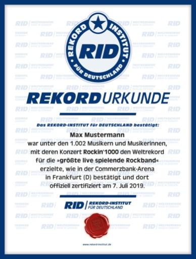 RID-Urkunde-Rockband-Teilnehmer