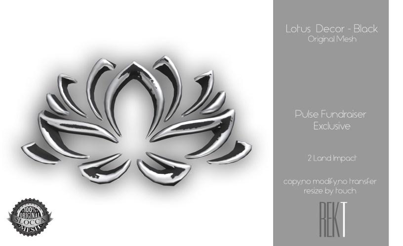 Rekt Lotus Decor - Black