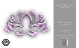 Rekt Lotus Decor -Pink